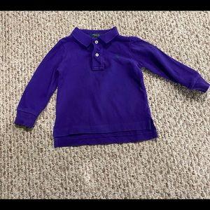 Polo Ralph Lauren Long Sleeve Boys Polo Shirt 12M